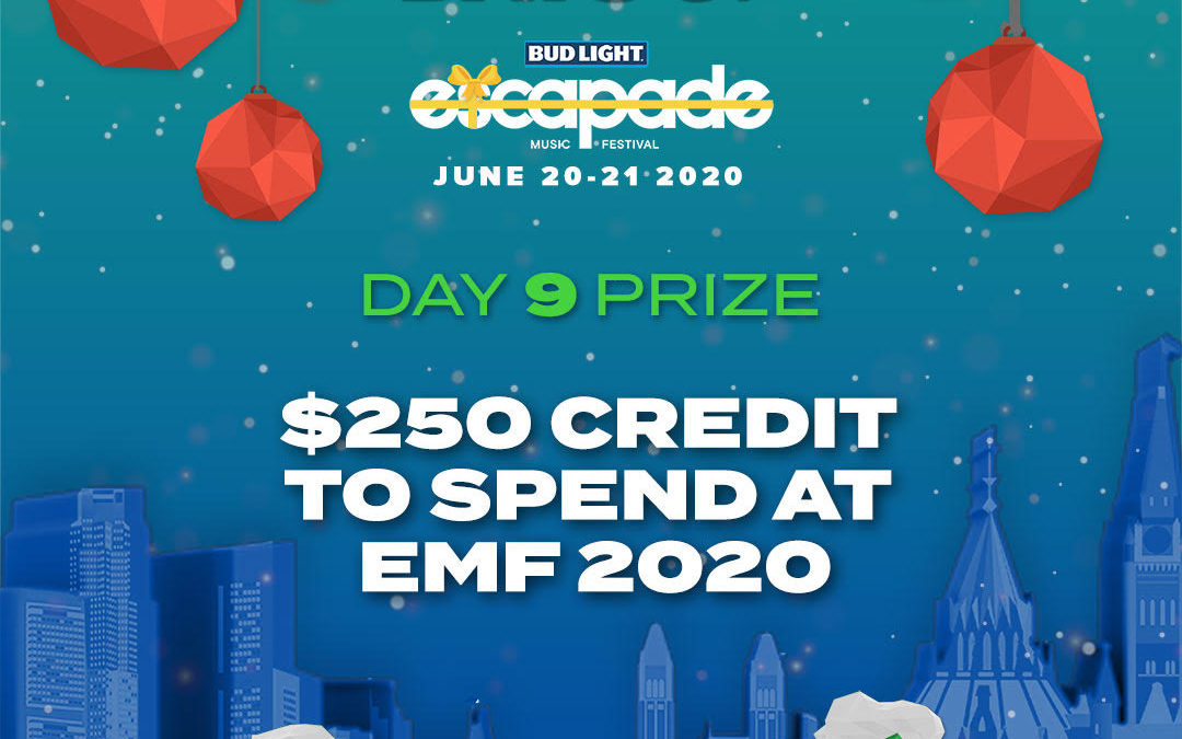 DAY 9 – $250 CREDIT TO SPEND AT EMF 2020