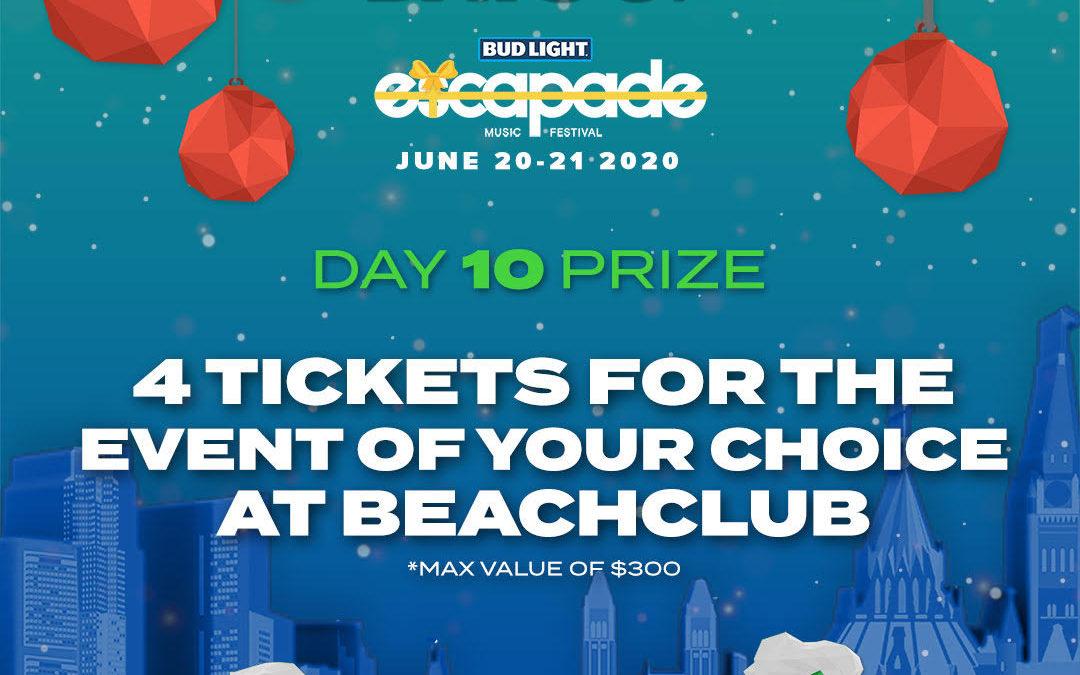 DAY 10 – 4 Tickets for Beachclub 2020 🎟